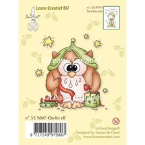 Transparent stamps, owl