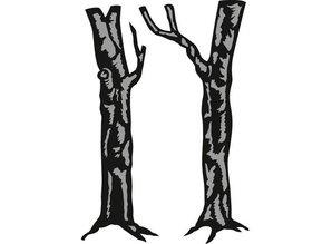 Marianne Design Corte y estampado en relieve plantillas, árboles