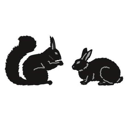Marianne Design Stanz- und Prägeschablonen, Tiny's Animals, Eichhörnchen und Hase