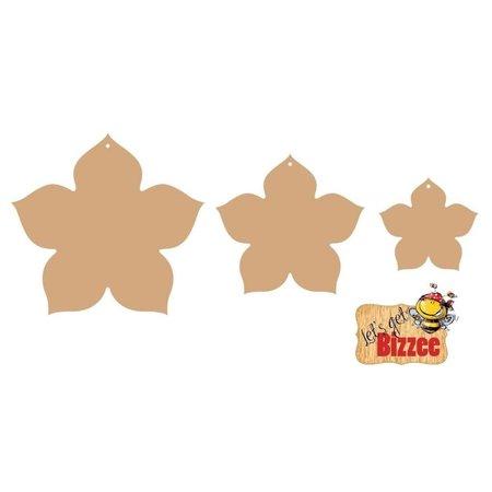 Objekten zum Dekorieren / objects for decorating Objekten zum Verzieren, Blume MDF