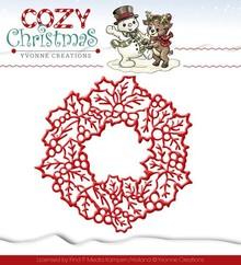 Yvonne Creations Skæring og prægning stencils, Yvonne Creations, jul krans