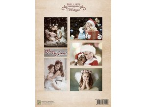 Nellie snellen Decoupage sheet vintage Christmas boys