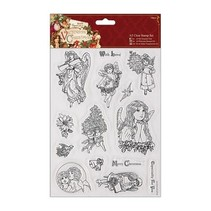 A5 Precision Stamp Set, victorianske jul - Angel