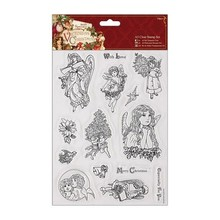 Docrafts / Papermania / Urban A5 precisione Stamp Set, Vittoriano Natale - Angelo
