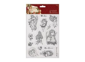 Docrafts / Papermania / Urban A5 Precision Stamp Set, victorianske jul - Angel