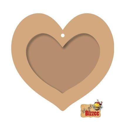 Objekten zum Dekorieren / objects for decorating Objetos para decorar, marco de la foto del corazón