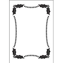 Carpeta de Repujado: Embossing Folder, Navidad marco decorativo (150x105mm)