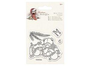Papermania Transparent stamps, Wellington Bear Christmas