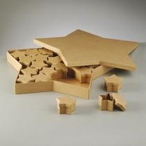 Objekten zum Verzieren, Set Boxen, Stern