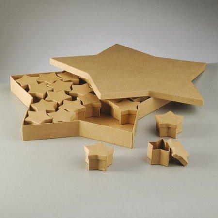 Objekten zum Dekorieren / objects for decorating Objekten zum Verzieren, Set Boxen, Stern