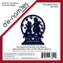 Punching and embossing templates-namites, snowglobe with snowmen