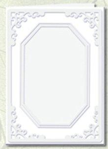 KARTEN und Zubehör / Cards 5 Passepartout cards octagonal cutout, white