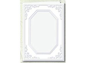 KARTEN und Zubehör / Cards 5 Passepartoutkarten mit achteckigem Ausschnitt, weiß