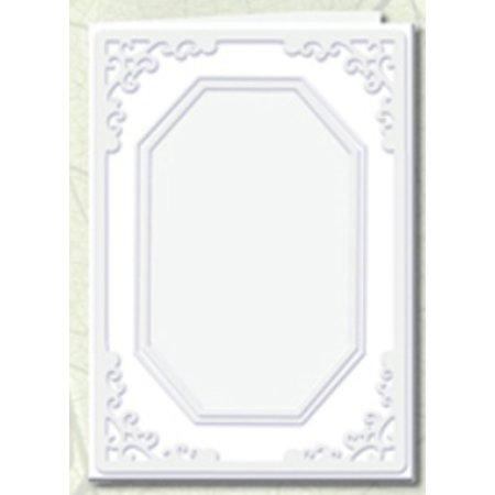 KARTEN und Zubehör / Cards 5 Passepartout kaarten achthoekige uitsparing, wit