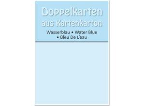 KARTEN und Zubehör / Cards 5 double cards A6, water blue, 250 g / sqm