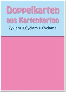 KARTEN und Zubehör / Cards 5 carte doppie A6, zyklam, 250 g / mq