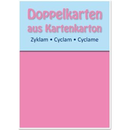 KARTEN und Zubehör / Cards 5 double cards A6, zyklam, 250 g / sqm