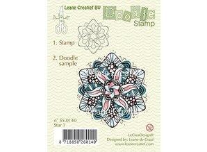 Leane Creatief - Lea'bilities Transparent stamps, Doodle Star