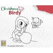 Gennemsigtige frimærker, jul Birdie - Teamwork