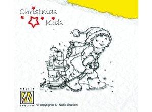Nellie snellen Gennemsigtige frimærker, jul Kid, at hjælpe Santa