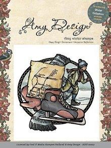 Amy Design Timbro di gomma, Amy Design - Aggrappati Stamp - pattinaggio ragazzo