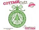 Cottage Cutz Corte y estampado en relieve plantillas, ornamento, bolas de Navidad con el árbol de Navidad