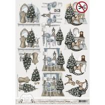 Láminas troqueladas, motivos navideños