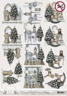 BILDER / PICTURES: Studio Light, Staf Wesenbeek, Willem Haenraets Die cut sheets, Christmas motifs