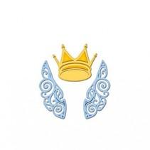 Taglio e goffratura stencil, il D-Lites, ali e corona