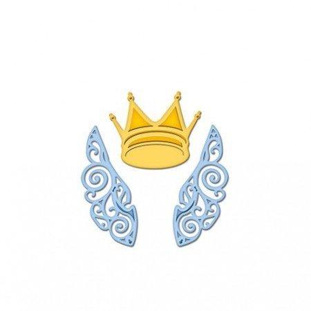 Spellbinders und Rayher Skæring og prægning stencils, D-Lites, vinger og krone