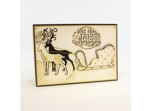 TONIC Cutting and embossing stencils Christmas sleigh