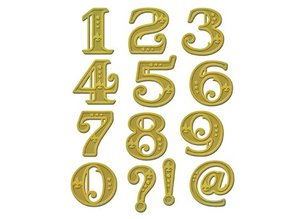 Spellbinders und Rayher Skæring og prægning stencils Shapeabilities, victorianske tal