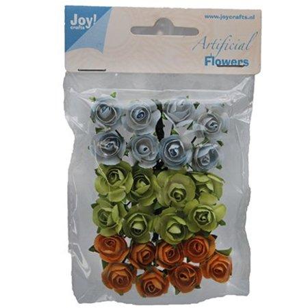Embellishments / Verzierungen 24 roosjes, 3 kleuren