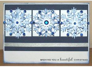 Creative Expressions Stanz- und Prägeschablonen, 3 Eiskristalle