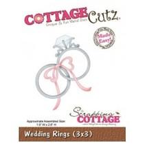 Corte y estampado en relieve plantillas, anillos de boda
