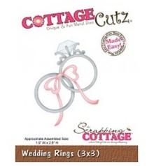 Cottage Cutz Stanz- und Prägeschablonen, Hochzeitsringe