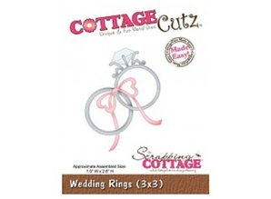 Cottage Cutz Corte y estampado en relieve plantillas, anillos de boda