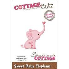 Cottage Cutz Skæring og prægning stencils, søde baby Olifant