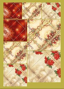 KARTEN und Zubehör / Cards Great idea! Mini-envelopes with candles and poinsettia motifs