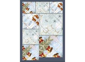 KARTEN und Zubehör / Cards Gran idea! Mini sobres con ardilla, ramas, campanas, adornos estrella