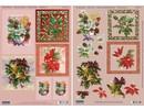 """BILDER / PICTURES: Studio Light, Staf Wesenbeek, Willem Haenraets 3D Stanzbogenset """"Floral julemotiver klokke"""""""