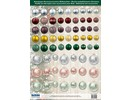 Embellishments / Verzierungen Great idea! Die cut sheets with Christmas balls of 250g card stock, A4