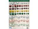 Embellishments / Verzierungen Ottima idea! fogli singoli Die con palle di Natale di carta 250g magazzino, A4