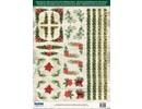 Embellishments / Verzierungen Die cut ark med hjørner og grænser fra 250 g karton, A4