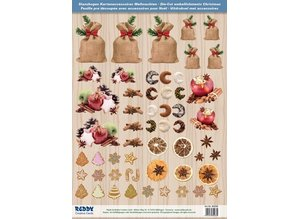 Embellishments / Verzierungen Die cut sheets with Weihnachtsgebaeck, baked apples from 250g card stock, A4 format - Copy