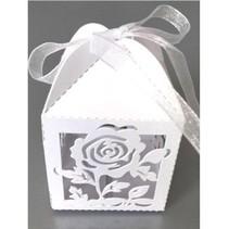 La casilla 10 de regalo con motivo de rosa delicada