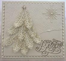 Marianne Design Goffratura e Schneideshablone, ramo di abete, LR0181
