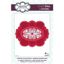Cutting and embossing stencils, 4 decorative frame with star motif