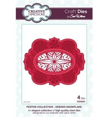 Creative Expressions Cutting and embossing stencils, 4 decorative frame with star motif