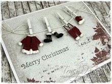 Joy!Crafts und JM Creation Stamping and embossing stencil, Santa Claus clothes